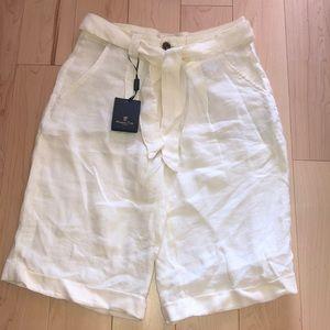 NWT Massimo Dutti white shorts